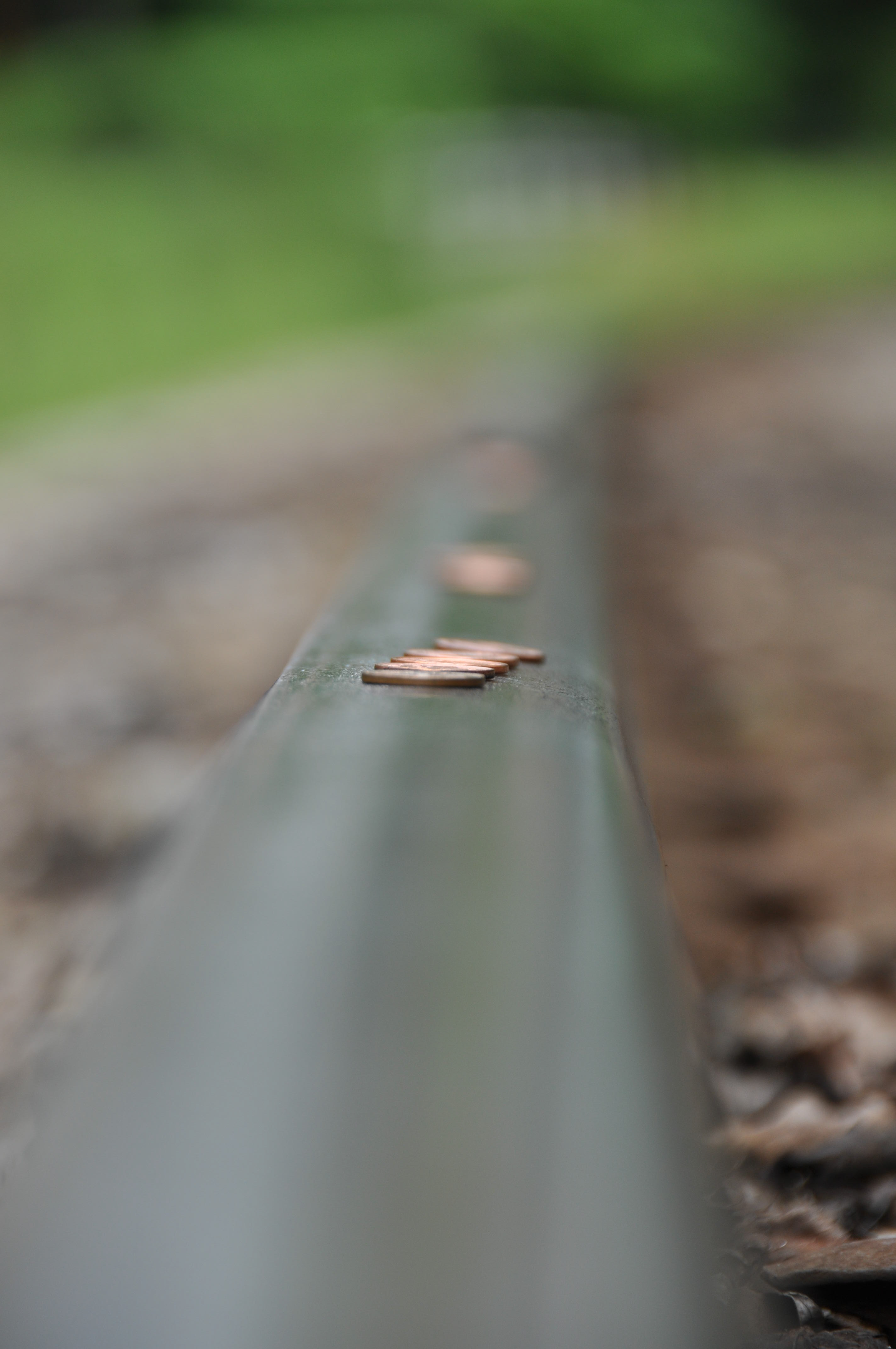 Pennies on a Railroad Track