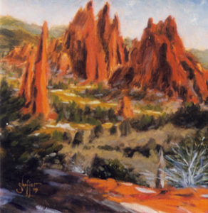 Plein-air Painting at Garden of the Gods a Southerly View