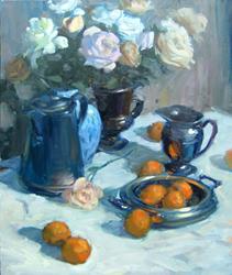 Oranges & White Roses
