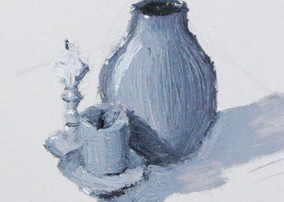 Black & White Vase by Tristan