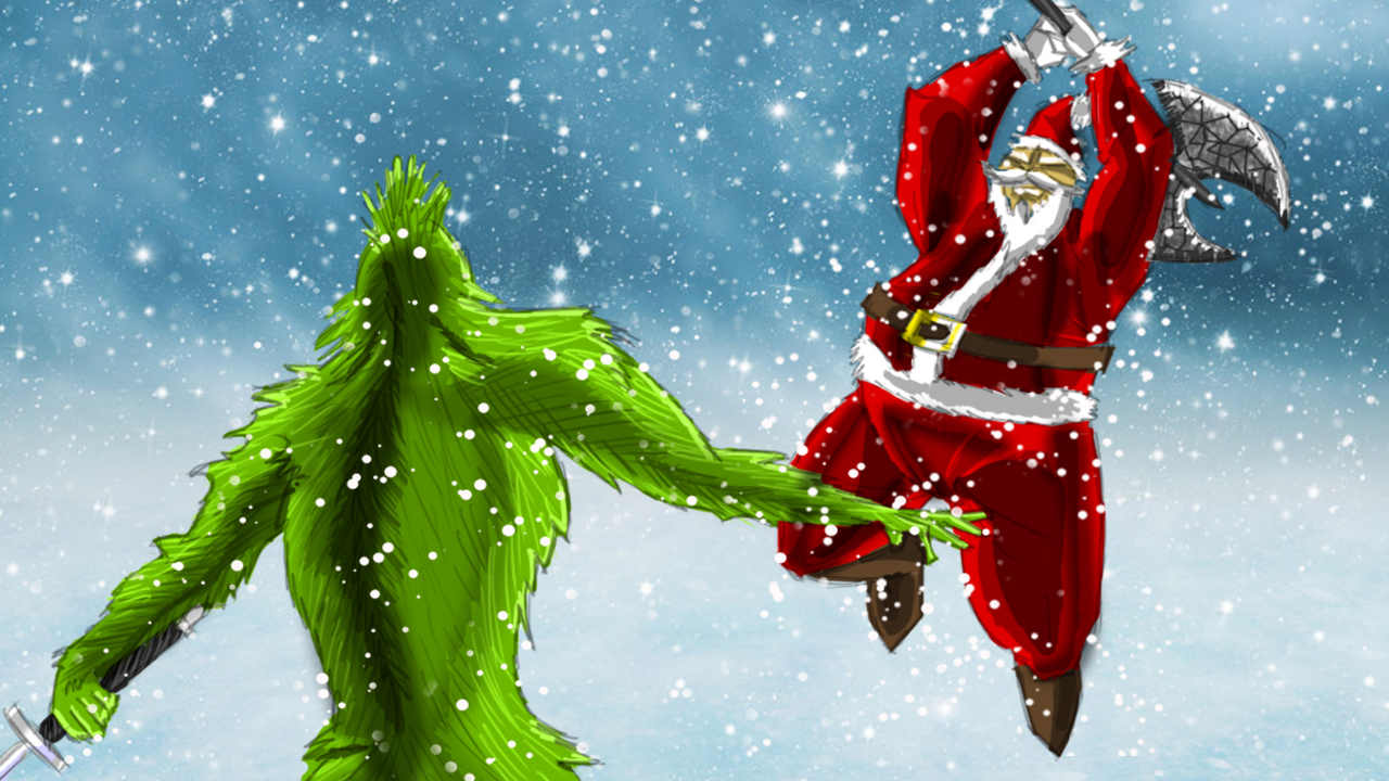 Santa vs. The Grinch, by Tristan