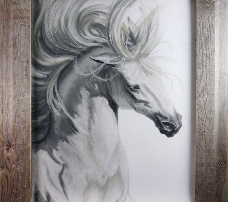 Horse Charcoal by McKenna