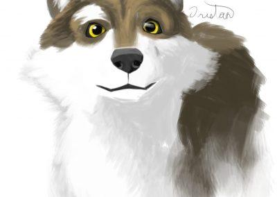 Wolf Digital Sketch by Tristan